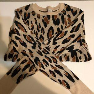 Cheetah print sweater !!
